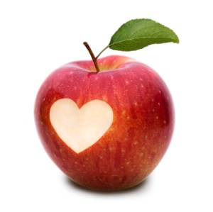 Apple with heart bite2